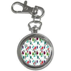 Lindas Flores Colorful Flower Pattern Key Chain Watches