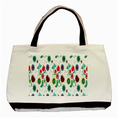 Lindas Flores Colorful Flower Pattern Basic Tote Bag (two Sides) by Simbadda