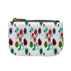 Lindas Flores Colorful Flower Pattern Mini Coin Purses by Simbadda