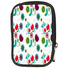 Lindas Flores Colorful Flower Pattern Compact Camera Cases by Simbadda