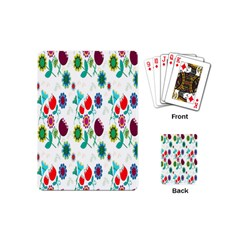 Lindas Flores Colorful Flower Pattern Playing Cards (mini)  by Simbadda