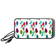 Lindas Flores Colorful Flower Pattern Portable Speaker (black) by Simbadda