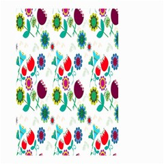 Lindas Flores Colorful Flower Pattern Small Garden Flag (two Sides) by Simbadda