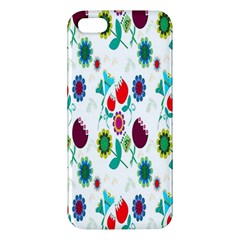 Lindas Flores Colorful Flower Pattern Apple Iphone 5 Premium Hardshell Case