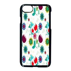 Lindas Flores Colorful Flower Pattern Apple Iphone 7 Seamless Case (black) by Simbadda
