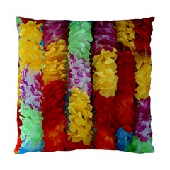 Colorful Hawaiian Lei Flowers Standard Cushion Case (two Sides) by Simbadda