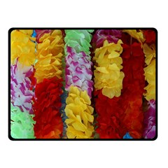 Colorful Hawaiian Lei Flowers Fleece Blanket (small) by Simbadda