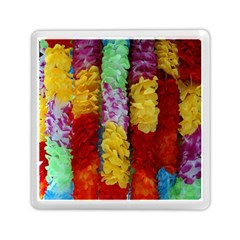 Colorful Hawaiian Lei Flowers Memory Card Reader (square)