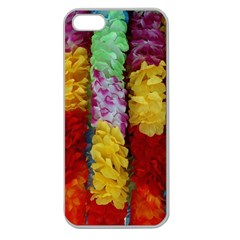Colorful Hawaiian Lei Flowers Apple Seamless Iphone 5 Case (clear) by Simbadda