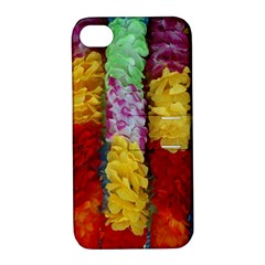 Colorful Hawaiian Lei Flowers Apple Iphone 4/4s Hardshell Case With Stand