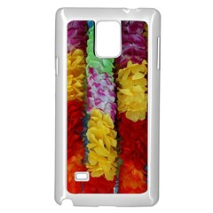 Colorful Hawaiian Lei Flowers Samsung Galaxy Note 4 Case (white)