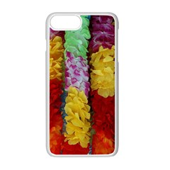 Colorful Hawaiian Lei Flowers Apple Iphone 7 Plus White Seamless Case by Simbadda