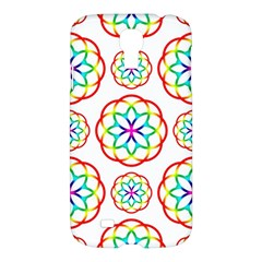 Geometric Circles Seamless Rainbow Colors Geometric Circles Seamless Pattern On White Background Samsung Galaxy S4 I9500/i9505 Hardshell Case by Simbadda