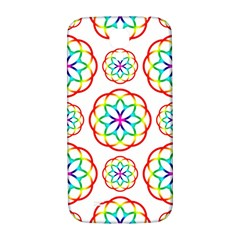 Geometric Circles Seamless Rainbow Colors Geometric Circles Seamless Pattern On White Background Samsung Galaxy S4 I9500/i9505  Hardshell Back Case by Simbadda