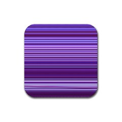 Stripe Colorful Background Rubber Square Coaster (4 Pack)  by Simbadda