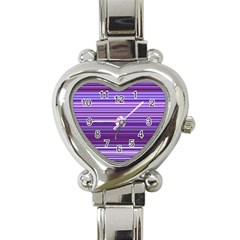 Stripe Colorful Background Heart Italian Charm Watch by Simbadda