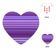 Stripe Colorful Background Playing Cards (heart)  by Simbadda
