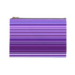 Stripe Colorful Background Cosmetic Bag (large)
