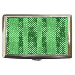 Green Herringbone Pattern Background Wallpaper Cigarette Money Cases by Simbadda