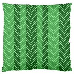 Green Herringbone Pattern Background Wallpaper Large Cushion Case (one Side)