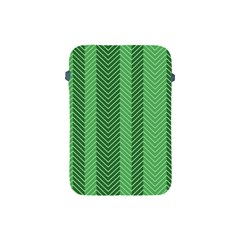 Green Herringbone Pattern Background Wallpaper Apple Ipad Mini Protective Soft Cases