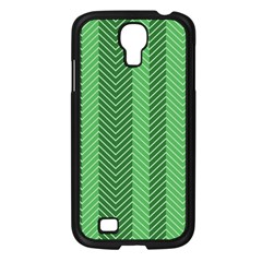 Green Herringbone Pattern Background Wallpaper Samsung Galaxy S4 I9500/ I9505 Case (black) by Simbadda