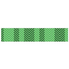 Green Herringbone Pattern Background Wallpaper Flano Scarf (small) by Simbadda
