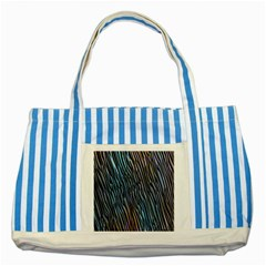 Abstract Background Wallpaper Striped Blue Tote Bag by Simbadda