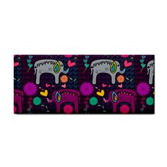 Colorful Elephants Love Background Cosmetic Storage Cases