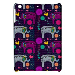 Colorful Elephants Love Background Apple Ipad Mini Hardshell Case by Simbadda