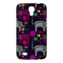 Colorful Elephants Love Background Samsung Galaxy Mega 6 3  I9200 Hardshell Case by Simbadda