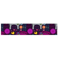 Colorful Elephants Love Background Flano Scarf (small) by Simbadda