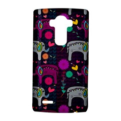 Colorful Elephants Love Background Lg G4 Hardshell Case by Simbadda