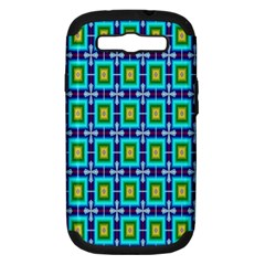 Seamless Background Wallpaper Pattern Samsung Galaxy S Iii Hardshell Case (pc+silicone) by Simbadda