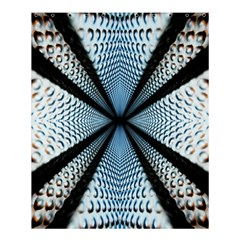 Dimension Metal Abstract Obtained Through Mirroring Shower Curtain 60  X 72  (medium)  by Simbadda
