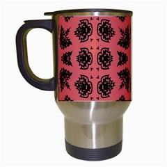 Digital Computer Graphic Seamless Patterned Ornament In A Red Colors For Design Travel Mugs (white) by Simbadda