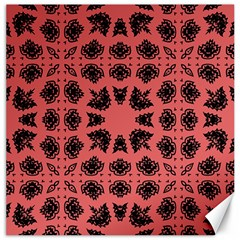 Digital Computer Graphic Seamless Patterned Ornament In A Red Colors For Design Canvas 12  X 12   by Simbadda