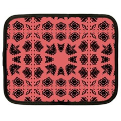 Digital Computer Graphic Seamless Patterned Ornament In A Red Colors For Design Netbook Case (xxl)
