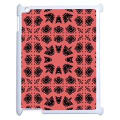 Digital Computer Graphic Seamless Patterned Ornament In A Red Colors For Design Apple Ipad 2 Case (white) by Simbadda