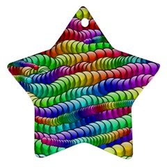 Digitally Created Abstract Rainbow Background Pattern Ornament (star)