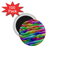 Digitally Created Abstract Rainbow Background Pattern 1 75  Magnets (100 Pack)  by Simbadda