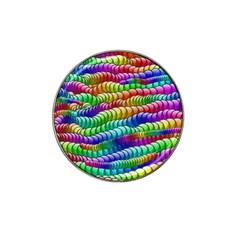 Digitally Created Abstract Rainbow Background Pattern Hat Clip Ball Marker (10 Pack) by Simbadda