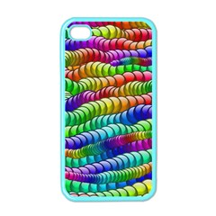 Digitally Created Abstract Rainbow Background Pattern Apple Iphone 4 Case (color) by Simbadda