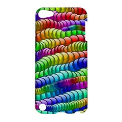 Digitally Created Abstract Rainbow Background Pattern Apple Ipod Touch 5 Hardshell Case by Simbadda