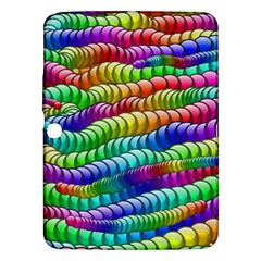 Digitally Created Abstract Rainbow Background Pattern Samsung Galaxy Tab 3 (10 1 ) P5200 Hardshell Case  by Simbadda