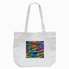 Digitally Created Abstract Rainbow Background Pattern Tote Bag (white) by Simbadda