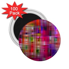 Background Abstract Weave Of Tightly Woven Colors 2 25  Magnets (100 Pack)