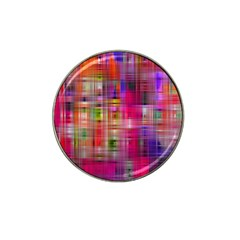 Background Abstract Weave Of Tightly Woven Colors Hat Clip Ball Marker by Simbadda