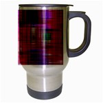 Background Abstract Weave Of Tightly Woven Colors Travel Mug (Silver Gray) Right
