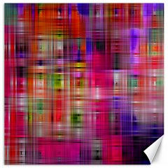 Background Abstract Weave Of Tightly Woven Colors Canvas 12  X 12   by Simbadda